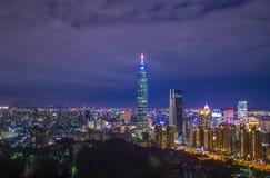 De horizon van Taipeh, Taiwan Royalty-vrije Stock Afbeeldingen