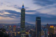 De horizon van Taipeh, Taiwan Stock Foto's