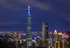 De horizon van Taipeh, Taiwan Stock Afbeelding