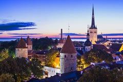 De Horizon van Tallinn Estland Royalty-vrije Stock Afbeelding