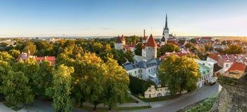 De horizon van Tallinn, Estland stock afbeeldingen