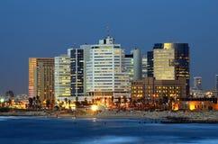 De Horizon van Tel Aviv Stock Afbeeldingen
