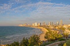 De horizon van Tel Aviv Stock Afbeelding
