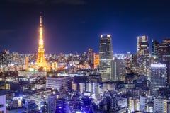 De horizon van Tokyo Stock Afbeeldingen