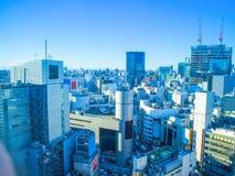 De Horizon van Tokyo in aardige dag stock fotografie