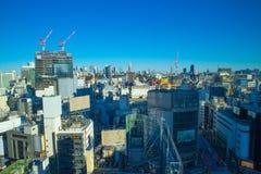 De Horizon van Tokyo in aardige dag royalty-vrije stock foto's