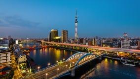 De horizon van Tokyo Japan stock video