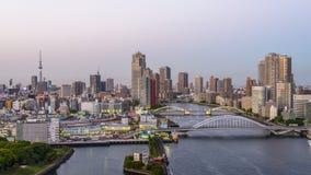 De horizon van Tokyo Japan stock videobeelden