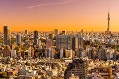 De horizon van Tokyo, Japan Stock Afbeelding