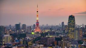 De horizon van Tokyo, Japan stock videobeelden