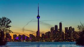 De Horizon van Toronto, Canada stock footage