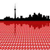 De horizon van Toronto met dollars Royalty-vrije Stock Foto's