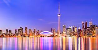 De horizon van Toronto in Ontario, Canada Royalty-vrije Stock Afbeelding