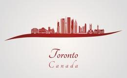 De horizon van Toronto V2 in rood Stock Afbeelding