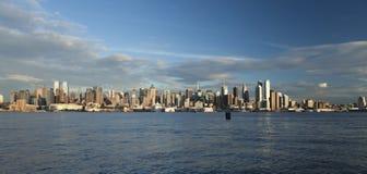 De horizon van Uptown van de Stad van New York Stock Afbeeldingen