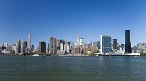 De horizon van Uptown van de Stad van New York Stock Afbeelding