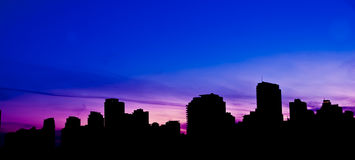 De horizon van Vancouver Stock Afbeeldingen