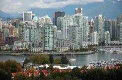 De Horizon van Vancouver Stock Afbeelding