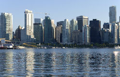 De horizon van Vancouver BC. Stock Afbeelding