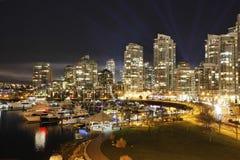 De Horizon van Vancouver Yaletown Royalty-vrije Stock Foto