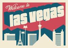 De horizon van Vegas van Las royalty-vrije illustratie