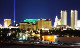 De horizon van Vegas van Las bij nacht Stock Foto's