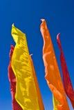De horizon van vlaggen Stock Afbeeldingen