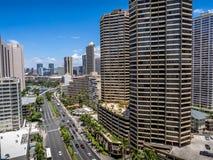 De horizon van Waikiki Stock Foto