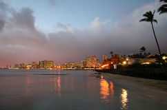 De Horizon van Waikiki bij Zonsopgang royalty-vrije stock fotografie