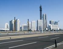 De horizon van Yokohama tegen dag in Japan royalty-vrije stock foto