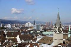 De Horizon van Zürich Stock Afbeeldingen