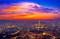 De horizon van Zuid-Korea van Seoel, de beste mening van Zuid-Korea royalty-vrije stock fotografie