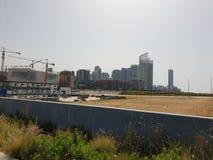 De horizon verre kraan van Libanon Beiroet stock foto