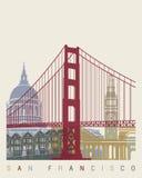 De horizonaffiche van San Francisco vector illustratie