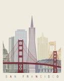 De horizonaffiche van San Francisco v2 royalty-vrije illustratie