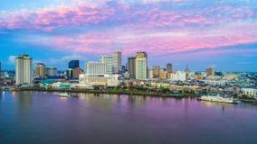De Horizonantenne van New Orleans van de binnenstad, Louisiane, de V.S. stock afbeelding