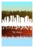 De horizonblauw en Wit van Tel Aviv vector illustratie