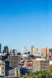 De Horizoncityscape van Kansas City Royalty-vrije Stock Foto