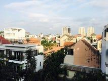 De horizongebouwen van Vietnam royalty-vrije stock foto