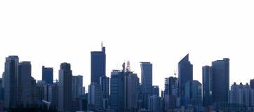 De horizonManilla van Makati stad Filippijnen Stock Afbeelding