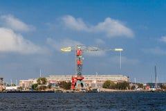 De Horizonmening van Amsterdam van Noordzeekanaal stock foto's