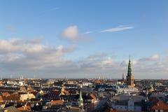 De Horizonmening van Kopenhagen van de Ronde Toren royalty-vrije stock afbeeldingen