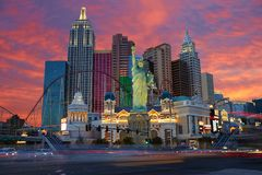 De Horizonnacht van Las Vegas royalty-vrije stock foto's