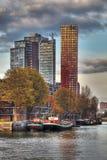 De Horizonnen van Rotterdam Stock Fotografie