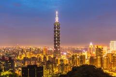 De horizonnen van Taipeh, Taiwan Royalty-vrije Stock Foto's