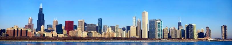De horizonpanorama van Chicago stock foto