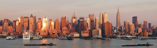 De horizonpanorama van de Stad van New York royalty-vrije stock fotografie