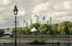 De horizonpanorama van de Werf van de kanarie Royalty-vrije Stock Foto