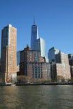 De horizonpanorama van het Lower Manhattan Royalty-vrije Stock Afbeeldingen