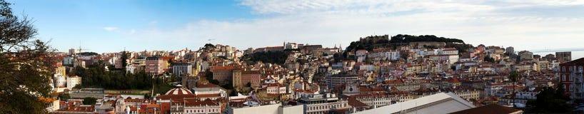 De horizonpanorama van Lissabon Royalty-vrije Stock Foto's
